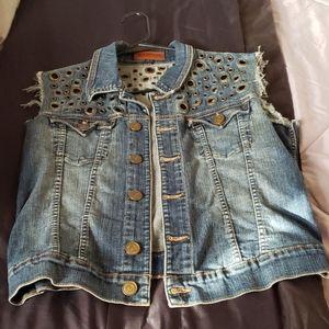 True religion brand jean jacket/vest